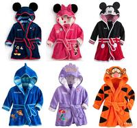 RW0002 Free Shipping New Arrival Children Pajamas For Winter & Autumn Kids Micky Minnie Bathrobes Boy Girls Homewear Retail