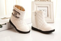 2013  winter  girls casual shoes snow leather boots toddler  children kids Low tube  short waterproof boots Martin boots