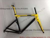 Road Bike Yellow BMC IMPEC complete carbon fiber frame,Available size 50cm/53cm/55cm/57cm