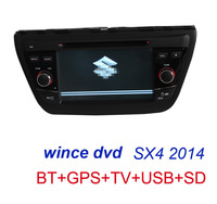 Car DVD For suzuki new sx4 2014 built in GPS Navi Navigation Ridao bluetooth ATV with free map