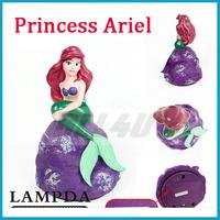LAMPDA  Children bedroom Night Lamp Touch Turn on Princess Ariel Cute Nice Cartoon Toy decoration lamp