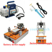 DHL Free shipping ! Newest  semi-automatic Lcd screen separator repair machine + LCD glue remove machine for lcd  refurbishment