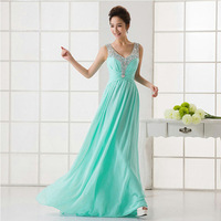 2014 new long sparkly sequin mint green bridesmaid dress under $ 50 (pink blue navy blue light pink coral colored )