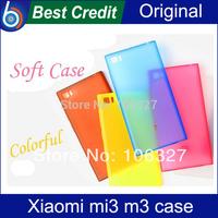 Free Shipping Colorful Original Silicone Case For Xiaomi M3 Mi3 Smart Phone Protective Soft Case Back Cover For Xiaomi Mi3