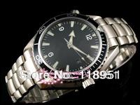 The new 2014 selling luxury business leisure fashion automatic steel strip Swiss brand men's wrist watch sapphire calendar