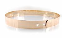 Free Shipping 2013 Most Fashion Women Bing Gold Mirror Silm Metal Plate Waist Belt 3cm Wide JP121409