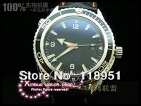 The new 2014 selling luxury business fashion leisure large dial automatic sapphire belt waterproof Swiss man wrist watch