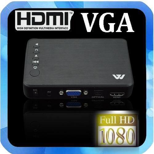 New Full Hd 1080P Media Player USB/SD RMVB RM H.264 MKV AVI VOB with AV, YUV, HDMI port Mini Hdd player free shipping(China (Mainland))