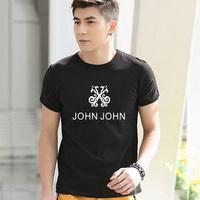 john john t shirt 2014 men's fashion t-shirt balck and white tee popular clothes free shipping