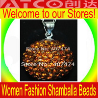 Wholesale12MM Crystal Disco Ball Shambala Pendant for Necklace Mix Order In Bulk Sale 100pcs/lot Shambala no including the chain
