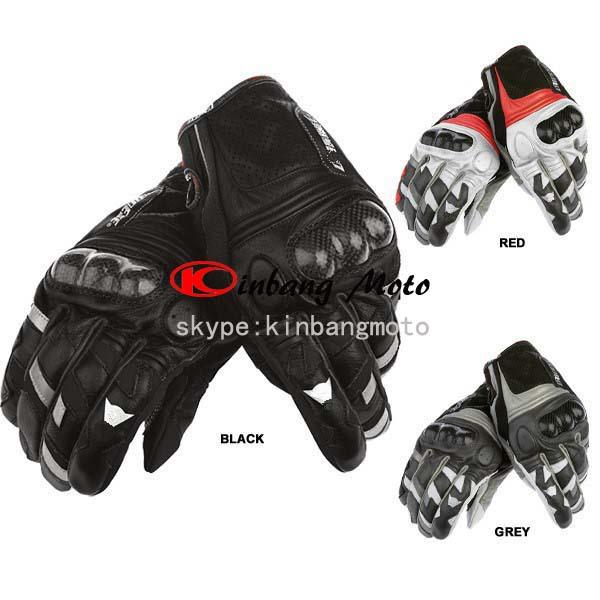 Vendita calda di alta qualità blaster in pelle in fibra di carbonio moto guanti/corsa guanti/Sport Utility Vehicle guanto di colore: nero