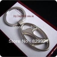 2pcs/lot free shipping high quality Zink Alloy Hyundai car key ring  auto logo keychain