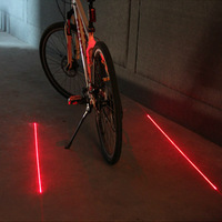 bike bicycle rear light accessories cycling lights bicycle laser infrared ray mtb bike tail red light lumens lamp taillight