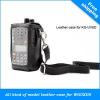 WOUXUN walkie talkie \ two way radio Lather Case (Varied design for different models) for KG-UVD1P|KG-UV6D|KG669|KG-805