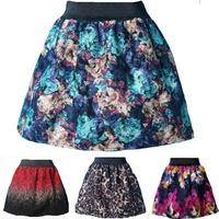 Autumn Winter Fashion Retro Floral -- Plaid -- Leopard Pattern Mini Bud Skirt Women's Flannel Skirt for woman