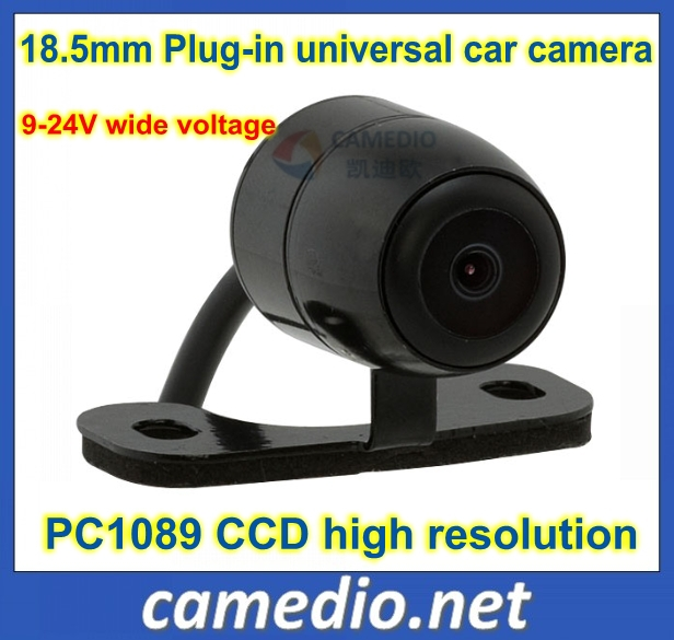 CCD high resolution high quality 18.5mm butterfly universal car rear view camera bckup 170 degree waterproof 9-24V(China (Mainland))