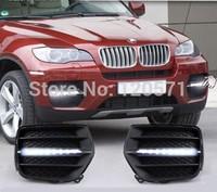 09-12 Auto Car LED DRL Daytime Running Light Car Lamps For B -MW X6 Fog Light ,Free Shipping