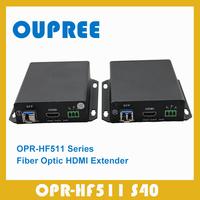 OPR-HF511S40 Singlemode Simplex Fiber 1080P 60fps HDMI Extender transceiver Up to 40KM 131200 FT HDMI Extender over Fiber Optic
