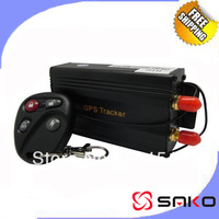 Free shipping Free Plat form Car GPS Tracker w/ Remote Control GSM Alarm Anti-theft Car Tracker TK103B