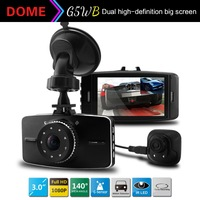 2014 New Dual Camera C6000B Car DVR Full HD 1080P with G-sensor+Night Vision+Rear Camera 720P Car Recorder Dash Camera