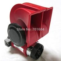 For Snail Nautilus Standard 12V Red Twin Auto  Air Horn Trumpet 139dB Car Truck [QPL38]