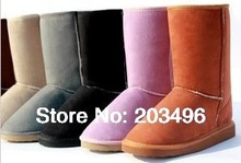 FREE SHIPPING Faux Wool Warm Women's Winter Snow Boots Shoes Size 4 to 10(Hong Kong)