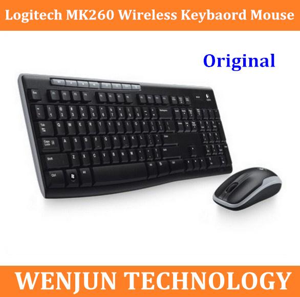 Original NEW Logitech MK260 Wireless Desktop System Desktop Mouse and Keyboard Combo Free Shipping(China (Mainland))