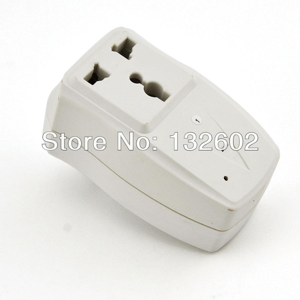 Free Shipping 1000W 125V-220V Digital 2 Ways Indoor Wireless Remote Control Socket with Single Keychain Transmitter(China (Mainland))