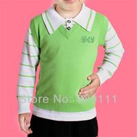 Wholesale 2pcs/lot Children sweater 2014 autumn winter kid sweater pullover t-shirt neck boy sweater pullover girl sweater
