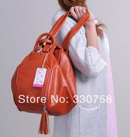 Dumplings Shape Women Handbags Messenger Bag Double Shoulder Essential Collapsible Deformable Multi Usage Tote Bag