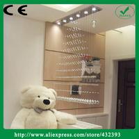 2014 Brief Modern Fashion Long Crystal Chandelier Lighting Crystal Pendant Home Lighting For Living Room