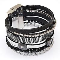 Magnetic Bracelet,Brazilian Style wide Magnetic wrap Bracelet, Winter wrap Bracelet Wrap Shamballa Magnetic Clasp Bracelet