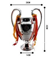 "UEFA 42cm tall 5:4 to real The champions league Trophy,Soccer Souvenir St ""ryder trophy REPLICA best fans gift,Free shipping"