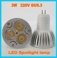 Free Shipping 10pcs/lot,220V GU5.3(MR16) led Bulb 9W Led Light 3*3W LED Spotlight lamp CE/RoHS Warm/Cool White
