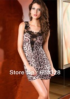 2014 Sexy Dress Package Hip Fold Clubs  Europe And America Style Leopard Lace Dress