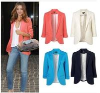 2014 Fashion Women's blazer Tunic Foldable Brand Jacket women clothes z suit vintage blazer shawl cardigan jackets   xjh161