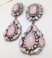 (Min order $10) 2014   long fashion statement flower bear earring stud earrings for women Factory Price
