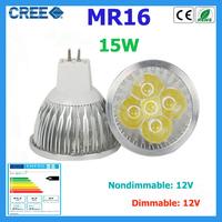 5pcs led bulb MR16 15w 5*3W warm white cold white 12V Dimmable led Light led lamp led spotlight bulb