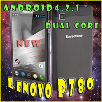 Original Lenovo P780 MTK6589 Quad Core mobile phone 4000mAh 5.0'' HD Gorilla glass 8Mp Camera Android 4.2