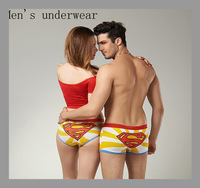 Mens Underwear Boxers Free shipping High quality 100% Cotton Cartoon Underwear Men Boxer Shorts Superman Men's New 2014