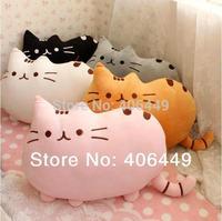 HOT sale 5colors stuffed Plush Fat cat plusheen Cushion Pillow I am Pusheen the cat  Big tail cat plusheen shape  pillow  M12
