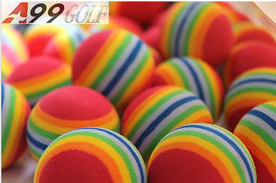 A99 Golf 36pcs eva ball foam ball rainbow practice golf training balls(China (Mainland))