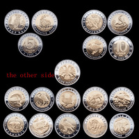 [NEW DESIGN] 15 pcs/lot Russia replica wildlife Red Book Series UNC 5rouble/10 Rouble 50 Rouble/ wild animal Free shipping