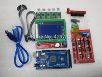 1pcs Mega 2560 R3 + 1pcs RAMPS 1.4 Controller + 5pcs A4988 Stepper Driver Module +1pcs 12864 controller for 3D Printer kit