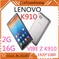 Original vibez  lenovo k910 5.5 inch Full HD android 3G mobile phones 13MP snadragon800 quad core 2gb ram dual sim cards