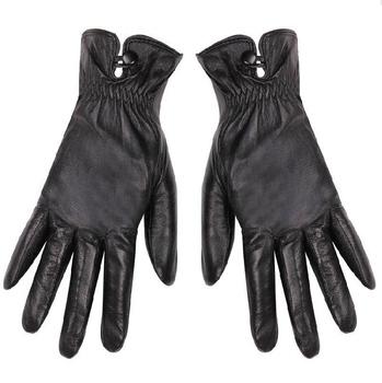 2014 Winter Женщины's Натуральная кожа Gloves Модный Черный Фиолетовый Plus Velvet ...