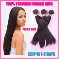 Grade 5A Peruvian Straight Virgin Hair Extensions,Prida hair weave 3pcs lot mixed cheap peruvian human hair bundle