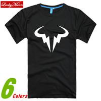 2014 New Fashion Style Summer Tennis Ball Befriended Men Rafa Nadal Natto Bull Plus Size Men's T-shirt Casual Sport DIY Tops