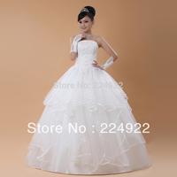 2014 New Fashionable Pearls Tube Top Lacing Bandage Wedding Dress Ivory White Sexy Slim Vestido Casamento Free Shipping S M L XL