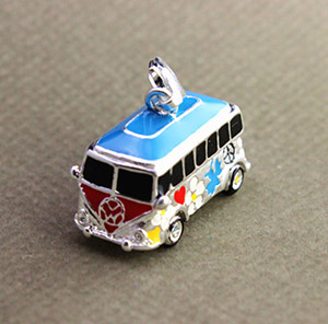 fashion silver mini bus necklace&accessories charms C360(China (Mainland))